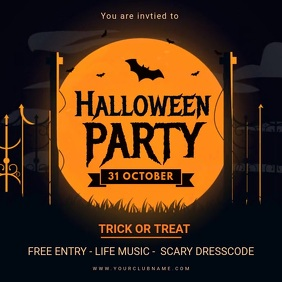 Halloween Kids Party Invitation Animated