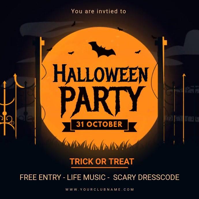 Halloween Kids Party Invitation Animated Instagram 帖子 template