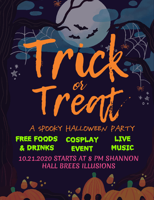 Halloween Kids Party Poster Template