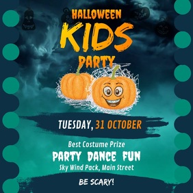Halloween Kids Party Square Video