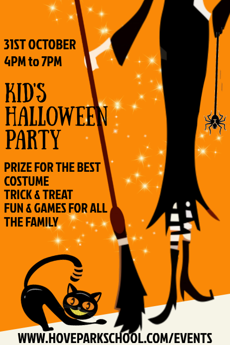 Halloween Kids Party Template Poster
