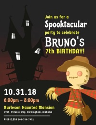 Halloween Kids Party Video Flyer Template