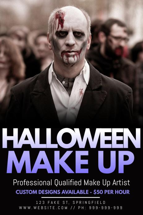 Halloween Make Up Poster โปสเตอร์ template