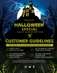 Halloween Mall Shopping Guidelines Flyer (US Letter) template