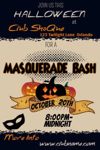 Halloween Masquerade Bash Poster