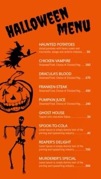 Halloween Menu Digitale Vertoning (9:16) template