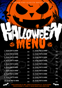 HALLOWEEN MENU A4 template