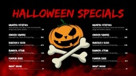 Halloween menu Pantalla Digital (16:9) template