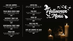 Halloween Menu Digital Display Video with Illustrations