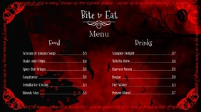 Halloween Menu Horizontal Digital Display Video template