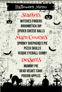 Halloween Menu Template