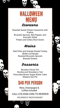 Halloween Menu Template Digital Display (9:16)