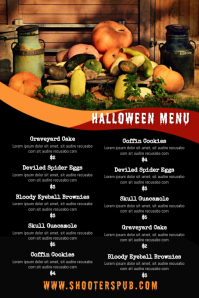 Halloween Menu Template Poster