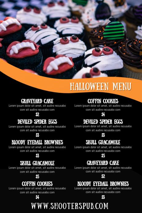 Halloween Menu Template Poster