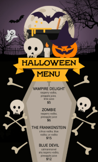 Halloween Menu US Legal Flyer