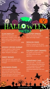 Halloween Menu Video Portrait Digital Display