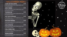 Halloween Menu Video Template Digital Display (16:9)