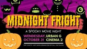 Halloween Midnight Fright Facebook Cover Video