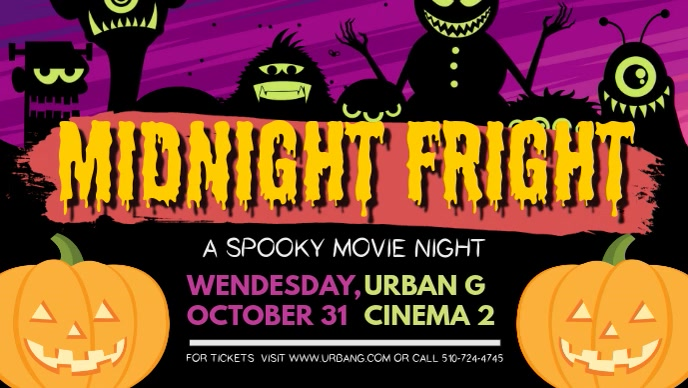 Halloween Midnight Fright Facebook Cover Video