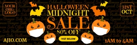 Halloween Midnight Sale Email Template Cabeçalho de e-mail