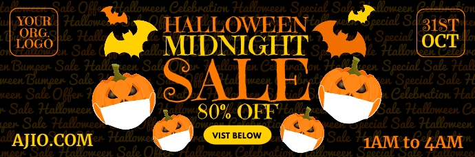 Halloween Midnight Sale Email Template