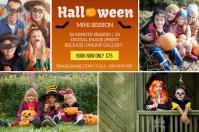 Halloween Mini Session ป้าย template