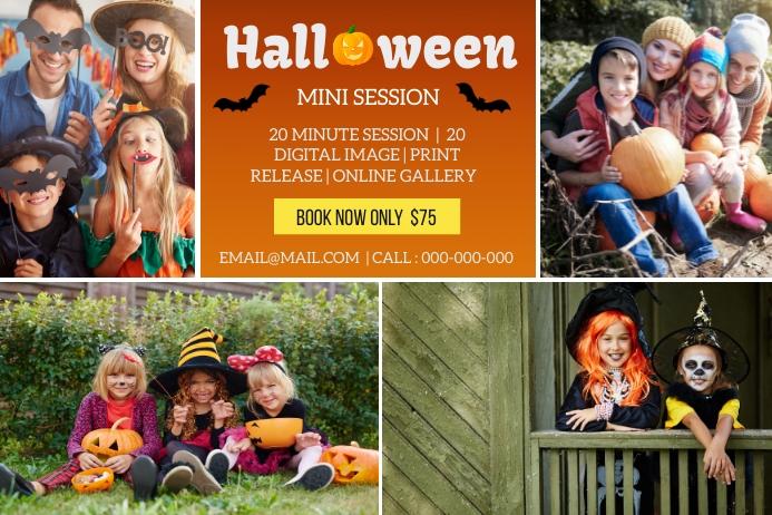 Halloween Mini Session Étiquette template