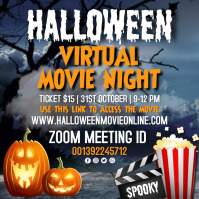 halloween movie night, halloween Pos Instagram template