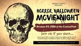 Halloween Movie Night Facebook Cover Video