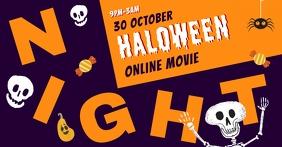Halloween movie night Fcebook event image Sampul Acara Facebook template