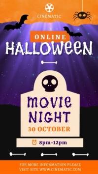 Halloween Movie Night Instagram video template