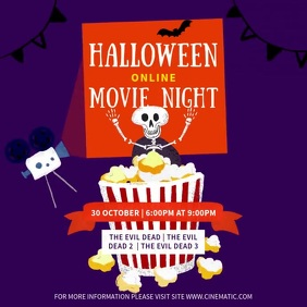 Halloween movie night video