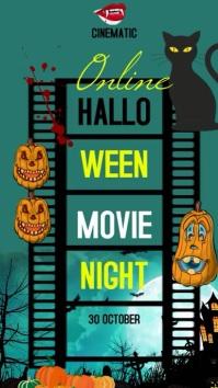 Halloween movie night video Instagram Story template