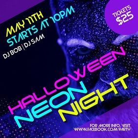 Halloween Neon night