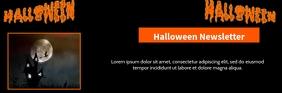 halloween newsletter Email Header template
