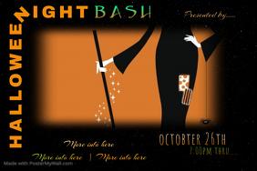 Halloween Night Bash Poster