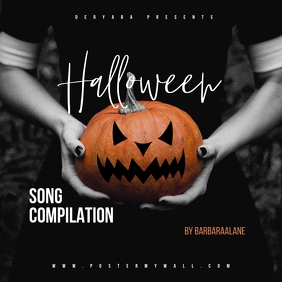 Halloween Song Compilation CD Mixtape Cover Albumcover template