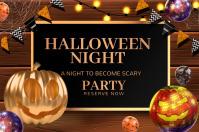halloween night Banner 4' × 6' template