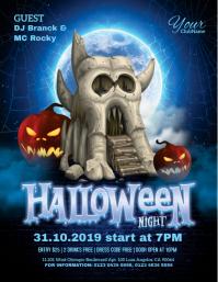 Halloween Night Pamflet (VSA Brief) template