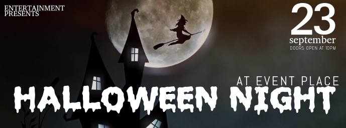 Halloween Night Event Facebook Cover Photo Or Post Template