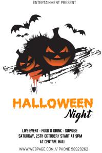 Halloween night event flyer