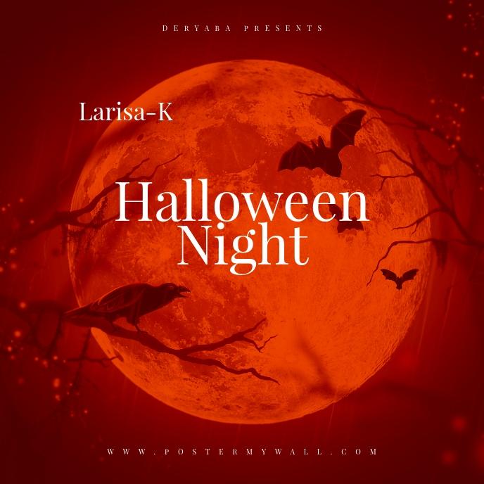 Halloween Night Mixtape Cover template