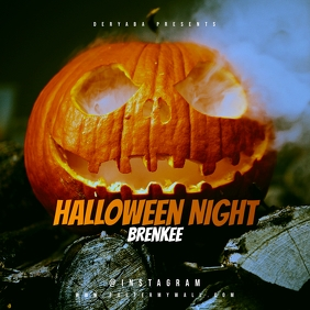Halloween Night Mixtape Cover Albumcover template