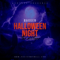 Halloween Night Mixtape Cover Albumhoes template