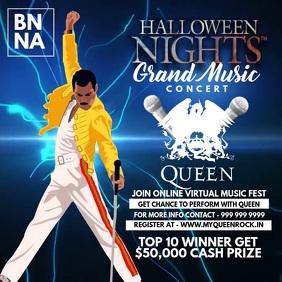 Halloween Night Music Concert Template Instagram Plasing