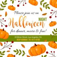 Halloween night party flyer Instagram-bericht template