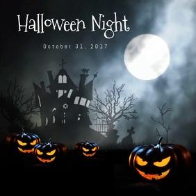 Halloween Night Instagram Post template