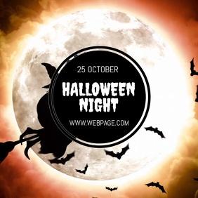 Halloween night video flyer template