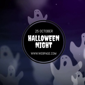 Halloween night video flyer template