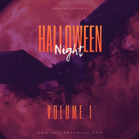 Halloween Night Volume 1 Mixtape Cover template